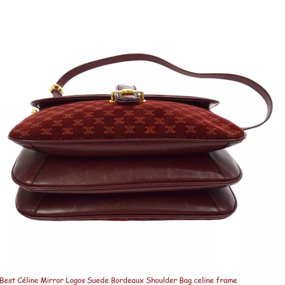 Best Céline Mirror Logos Suede Bordeaux Shoulder Bag celine frame – Replica Bags – Buy Wholesale Cheap Luxury Online Replica Handbags Store
