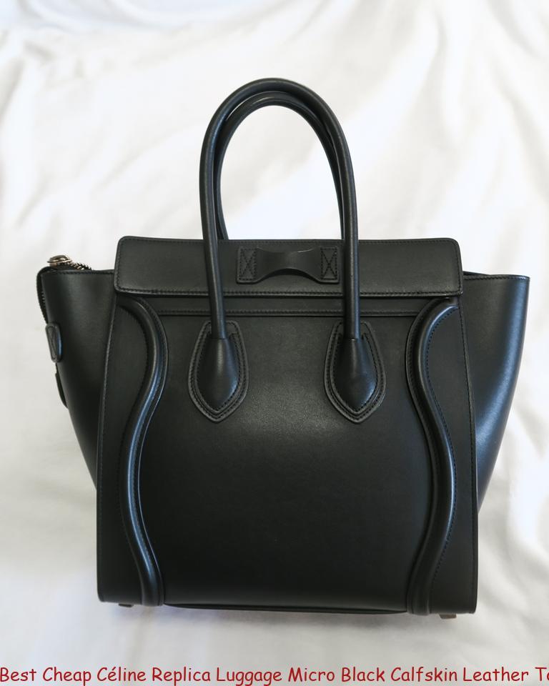 ca056ac655d8 Best Cheap Céline Replica Luggage Micro Black Calfskin Leather Tote celine  bag price