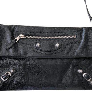 fdcf25cfa1d ... Luxury Designer Balenciaga 7 Star Replica Arena Giant Envelope Black  Leather Clutch balenciaga replica bag ...