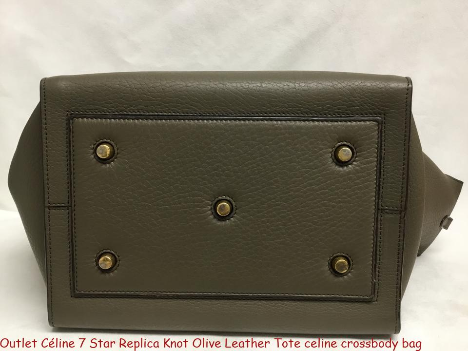 7cb1bab24 Outlet Céline 7 Star Replica Knot Olive Leather Tote celine crossbody bag