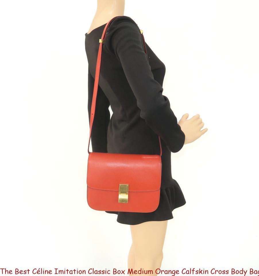 enjoy bottom price buying new hot products The Best Céline Imitation Classic Box Medium Orange Calfskin Cross Body Bag  celine trio bag