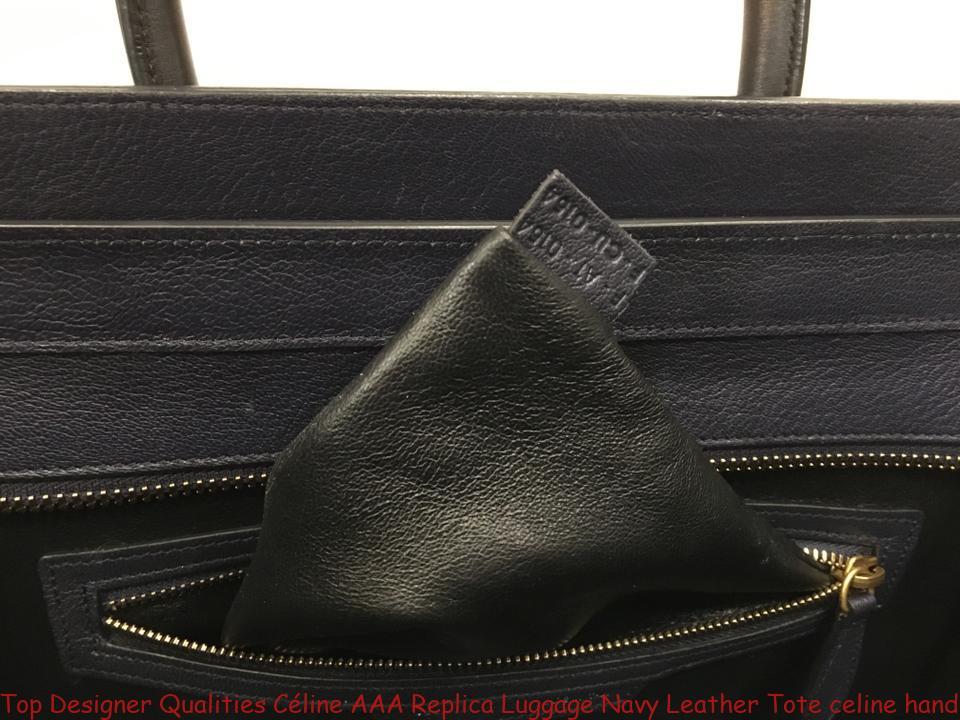 Top Designer Qualities Céline AAA Replica Luggage Navy Leather Tote celine  handbag d7b5d0204bd77
