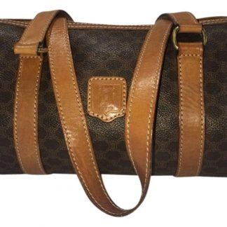 5e293cbc0d US Céline 1 1 Mirror Replica Boston Paris Barrel Papillon Handbag Celm5  Brown Beige Leather Satchel celine nano bag